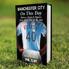 Personalised Manchester City On This Day Book P0512M92